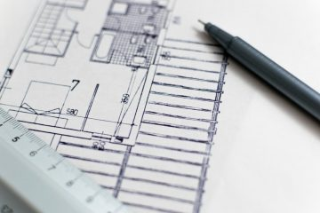 blueprints close-up